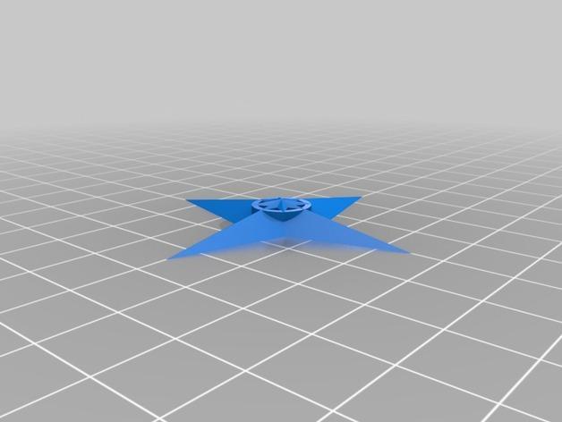 四角星 飞镖 3D模型  图5