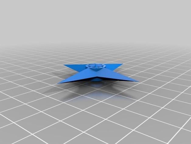 四角星 飞镖 3D模型  图3