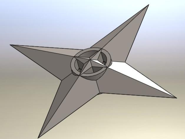 四角星 飞镖 3D模型  图6