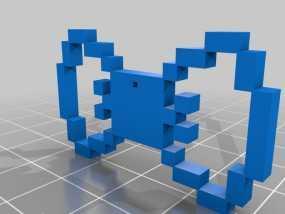 蝴蝶结吊坠 3D模型