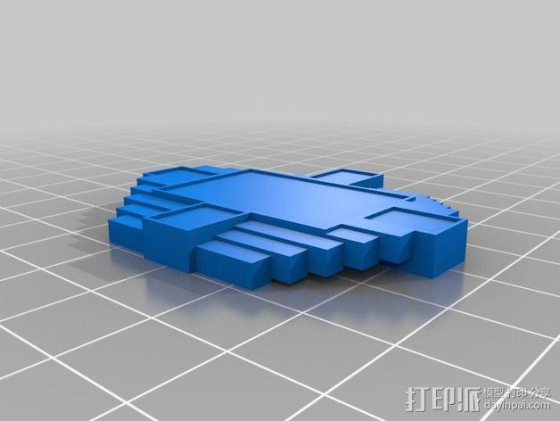 宝石胸针 3D模型  图2