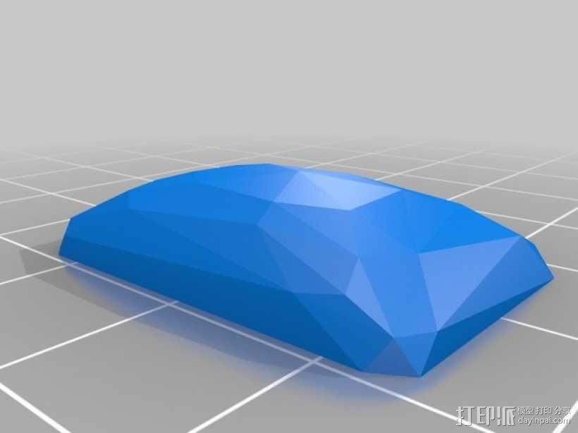 宝石胸针 3D模型  图3