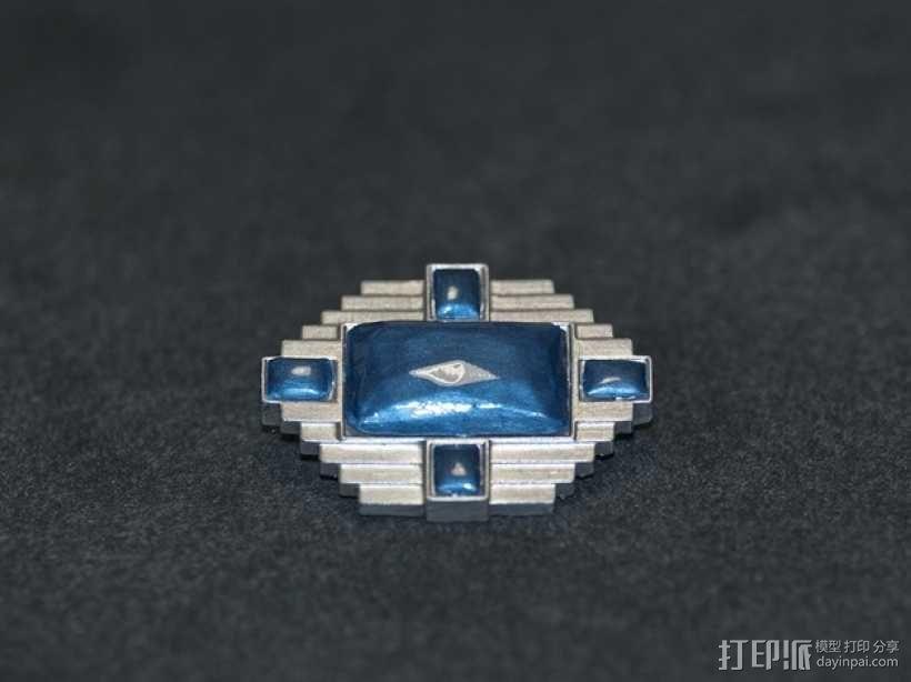 宝石胸针 3D模型  图6