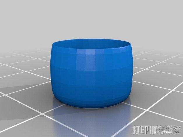 撞色指环 3D模型  图3