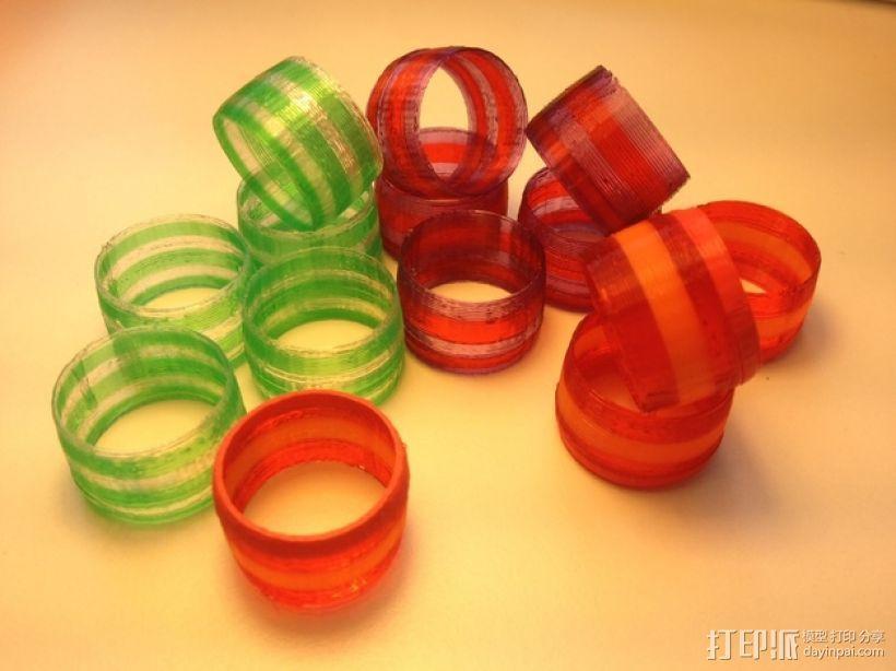撞色指环 3D模型  图1