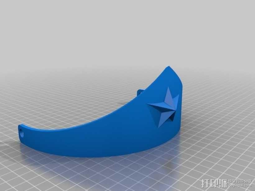 神奇女侠 皇冠 3D模型  图2