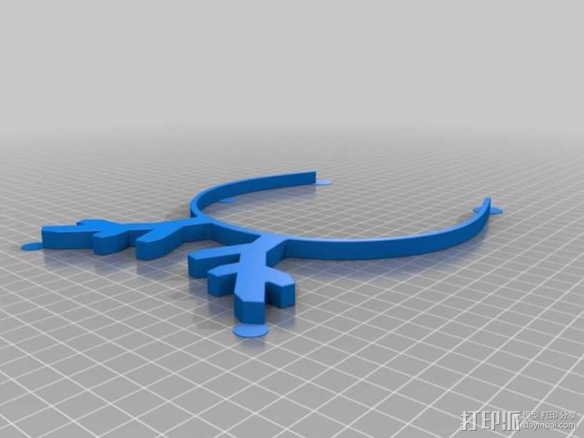 驯鹿角头箍 3D模型  图2