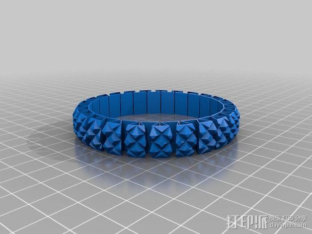 可拉伸手环 3D模型  图1