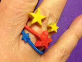 星星戒指 3D模型