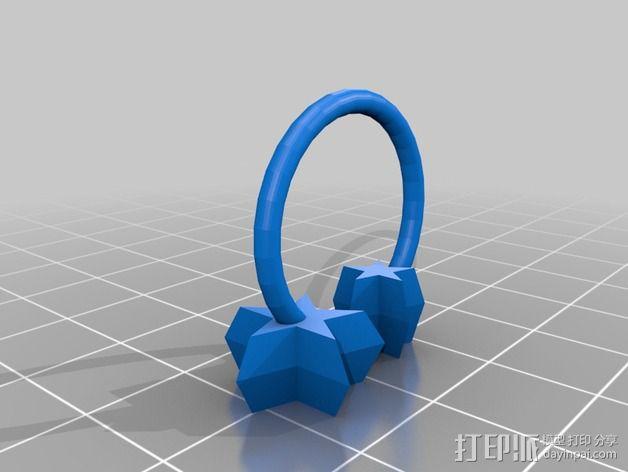 星星戒指 3D模型  图3