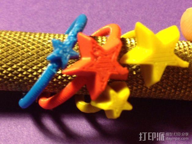 星星戒指 3D模型  图2