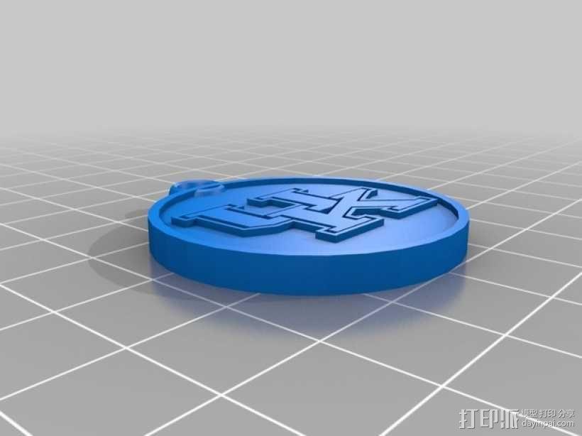 篮球挂件 3D模型  图1
