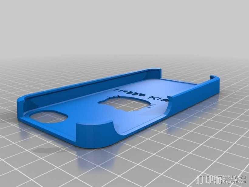 Hello Kitty 手机保护壳 3D模型  图1