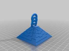 金字塔坠饰 3D模型