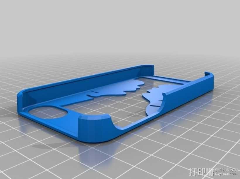 Pedro漏字板 iPhone4/4s手机壳 3D模型  图1