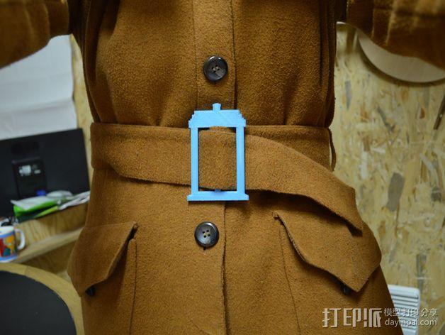 TARDIS腰带扣 3D模型  图2