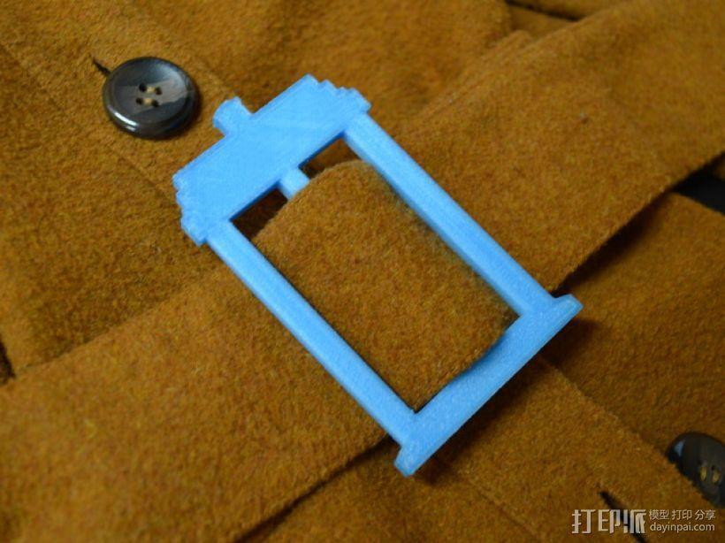 TARDIS腰带扣 3D模型  图1