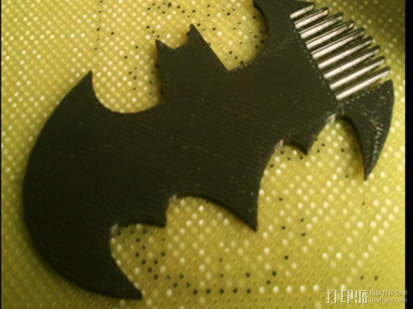 蝙蝠梳子 3D模型  图1
