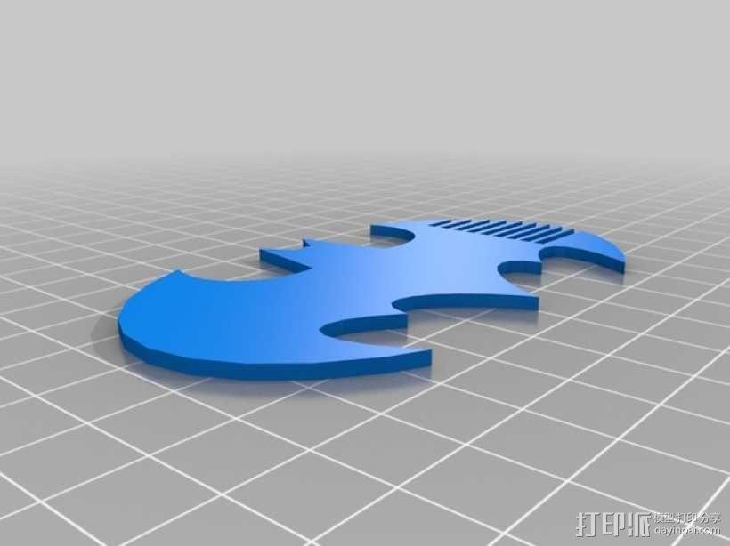 蝙蝠梳子 3D模型  图2
