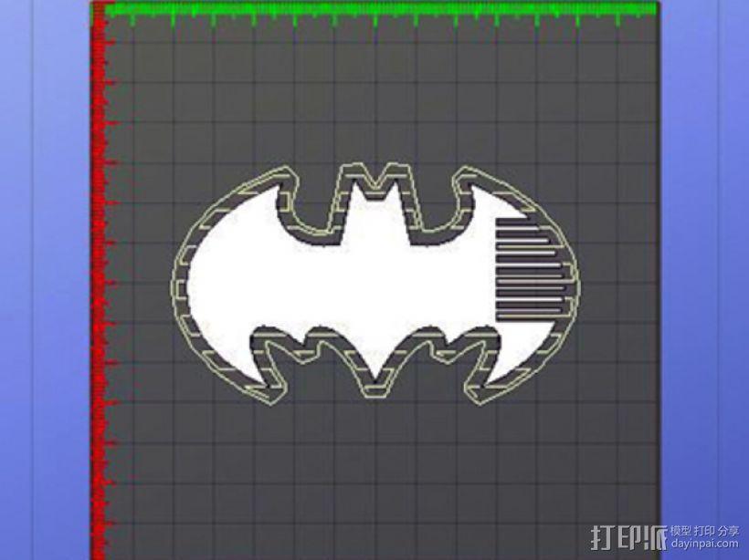 蝙蝠梳子 3D模型  图4