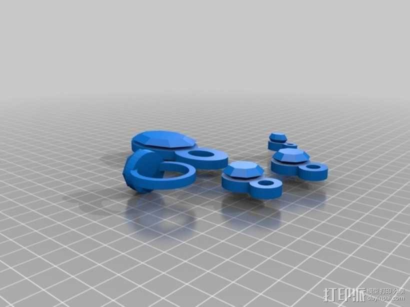 紫水晶戒指 3D模型  图2