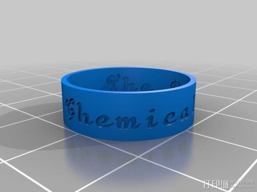 刻字戒指 3D模型  图1