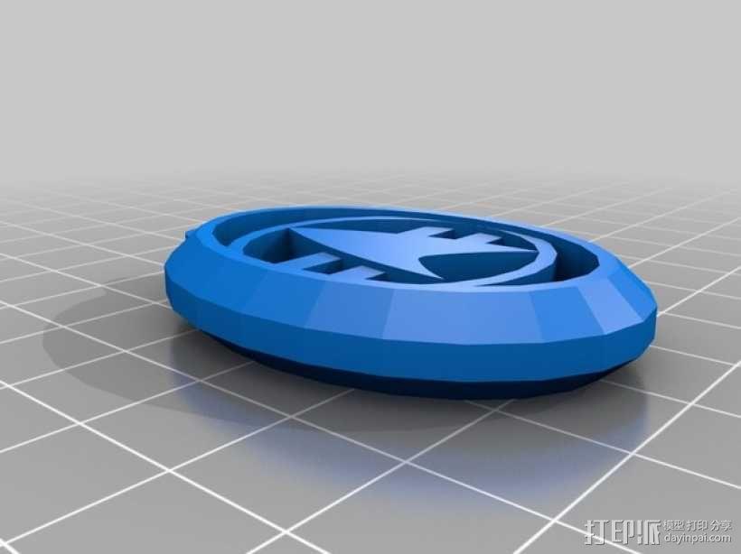 星际迷航钥匙扣 3D模型  图1