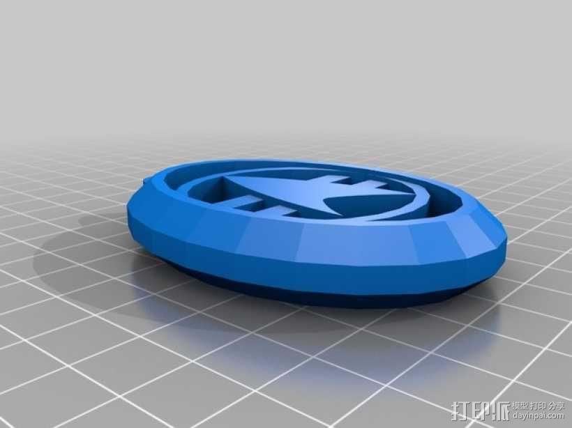 星际迷航钥匙扣 3D模型  图2
