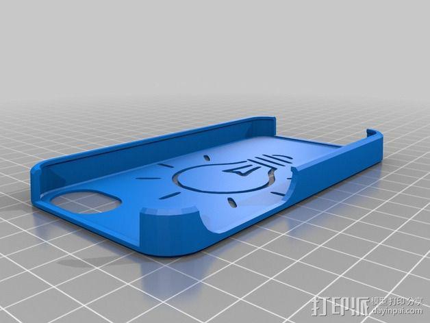 灯状背景的手机壳 3D模型  图1