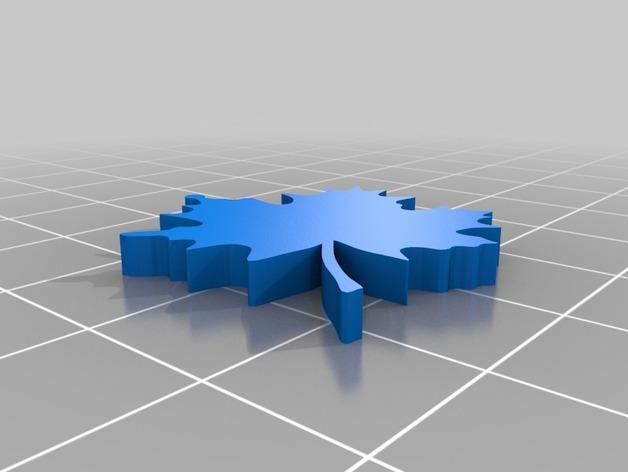 枫叶型耳环 3D模型  图2