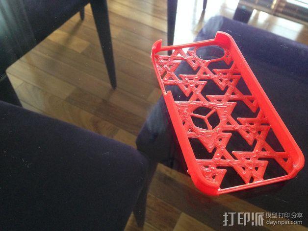 三角图形iPhone4s手机保护套 3D模型  图3