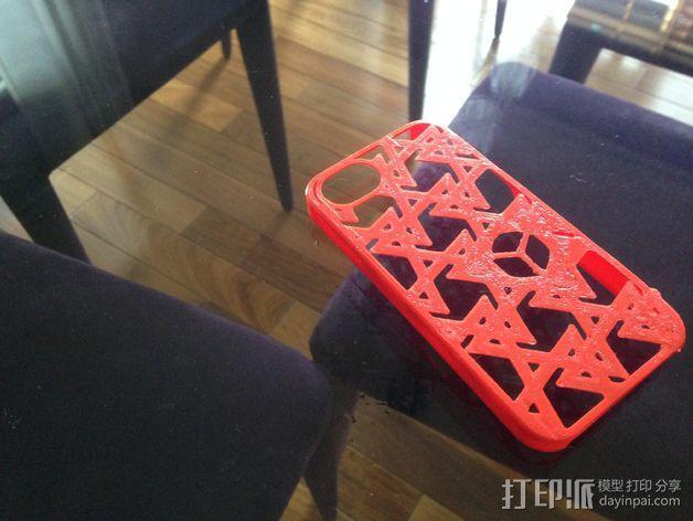 三角图形iPhone4s手机保护套 3D模型  图1