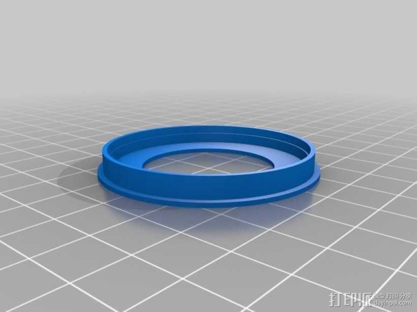 夜视镜眼镜环 3D模型  图1