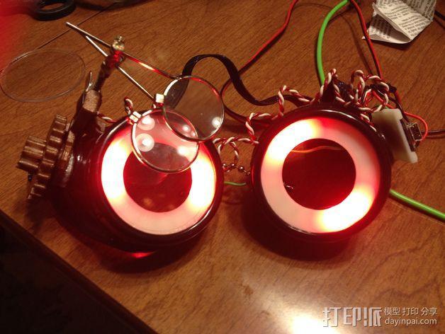 夜视镜眼镜环 3D模型  图7