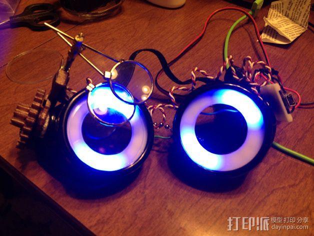 夜视镜眼镜环 3D模型  图5