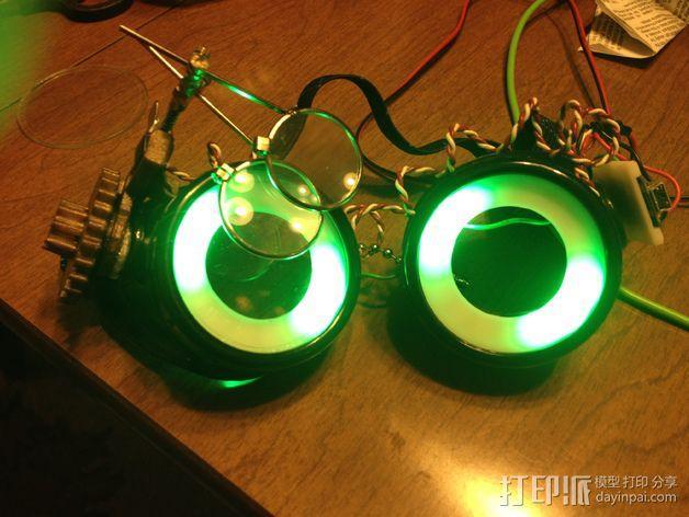 夜视镜眼镜环 3D模型  图6