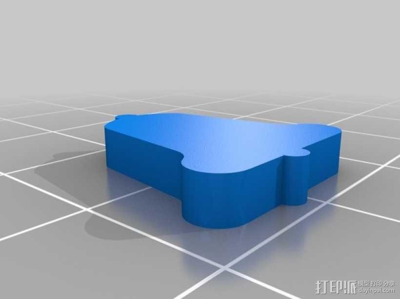 铃铛耳坠 3D模型  图2