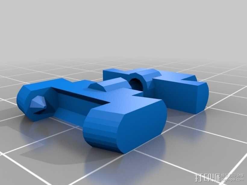 手镯衔接扣 3D模型  图1