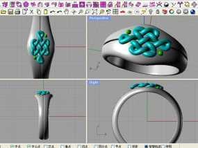 中国结 戒指 3D模型