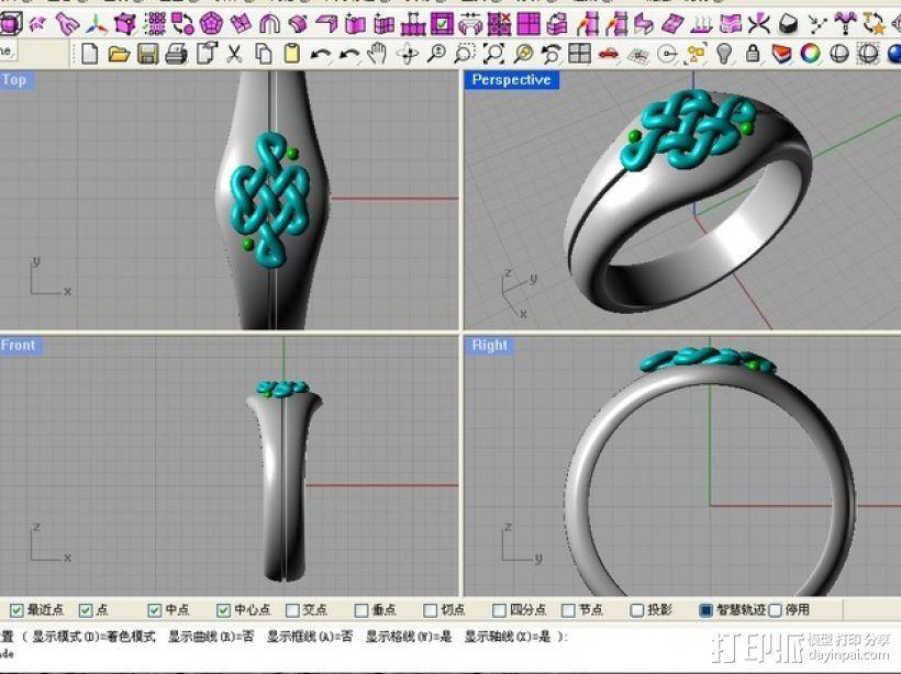 中国结 戒指 3D模型  图4