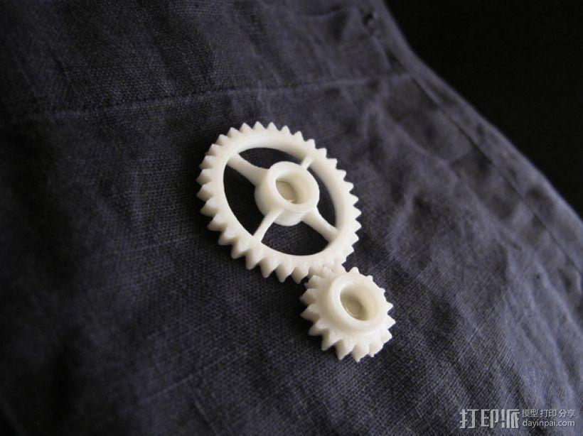 齿轮传动链 3D模型  图1