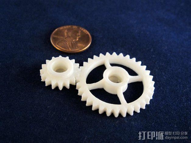 齿轮传动链 3D模型  图3