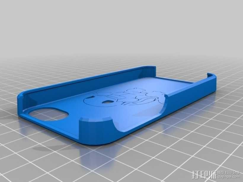 松鼠图案iPhone4手机保护套 3D模型  图1