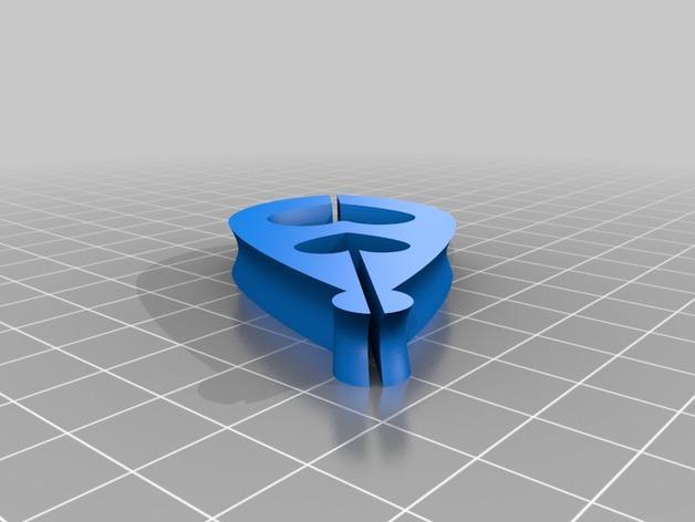 双心项坠 3D模型  图2