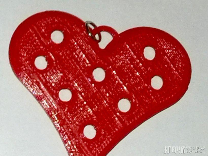 心形项链坠 3D模型  图1