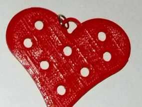心形项链坠 3D模型