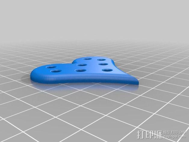 心形项链坠 3D模型  图6