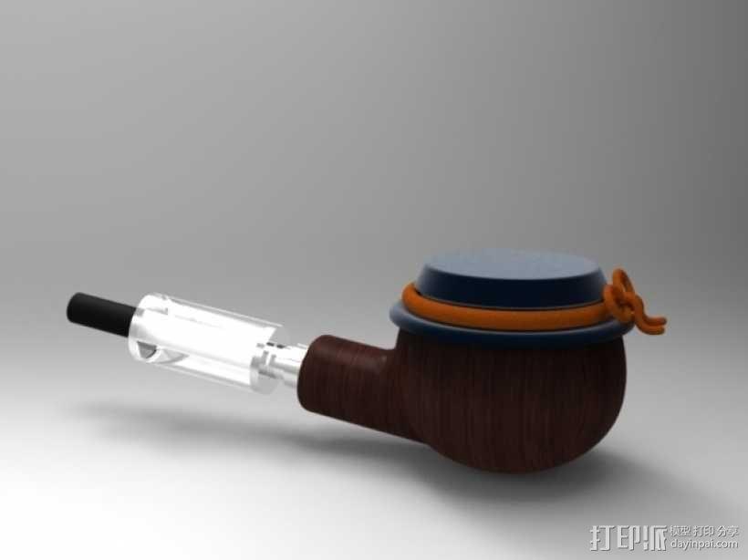 简易烟斗 3D模型  图1
