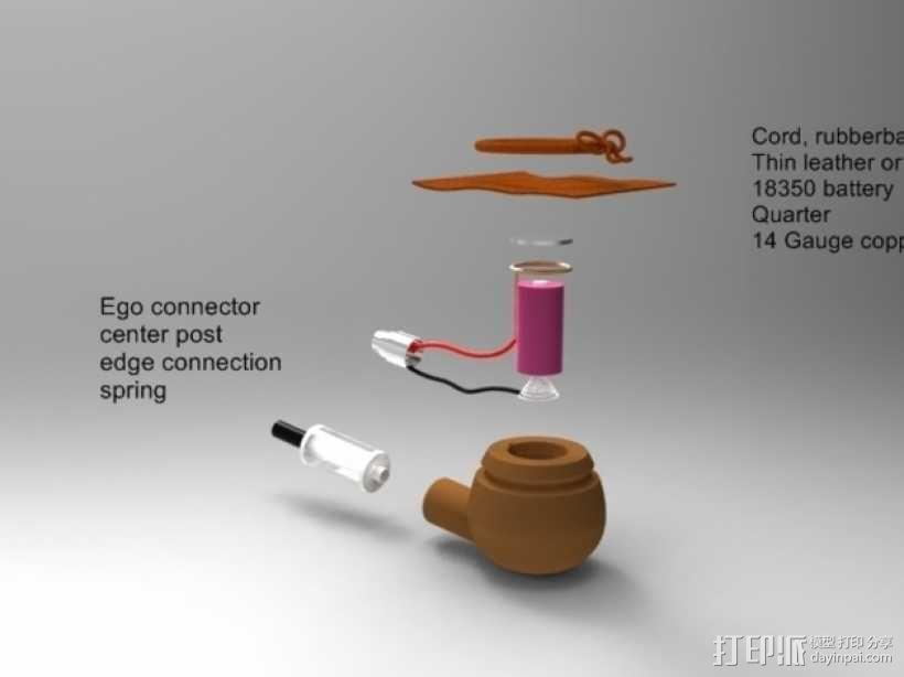 简易烟斗 3D模型  图3