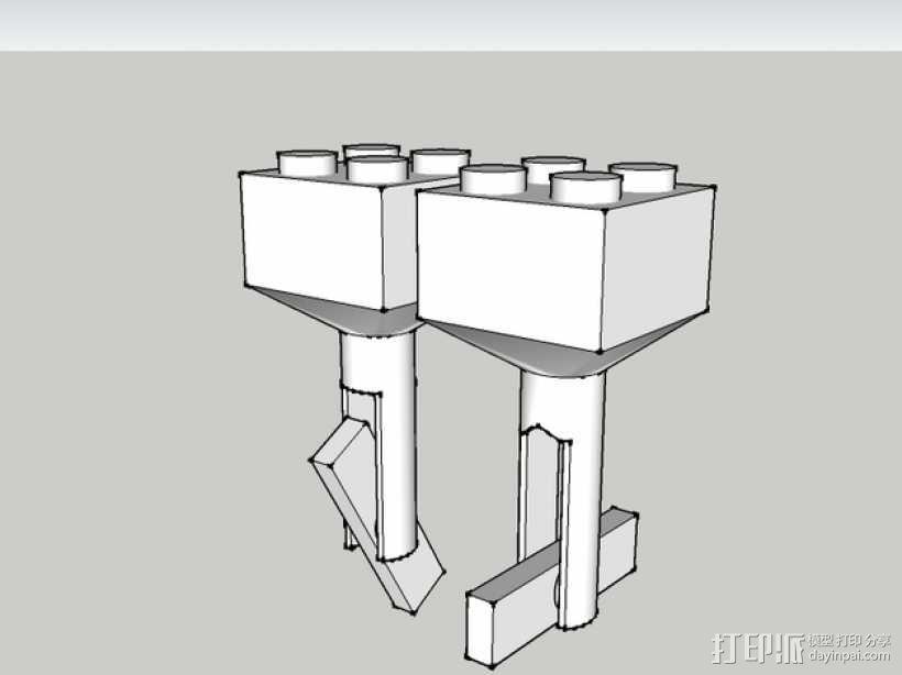 乐高积木 袖扣 3D模型  图1